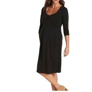Old Navy black cotton 3/4 sleeve maternity dress